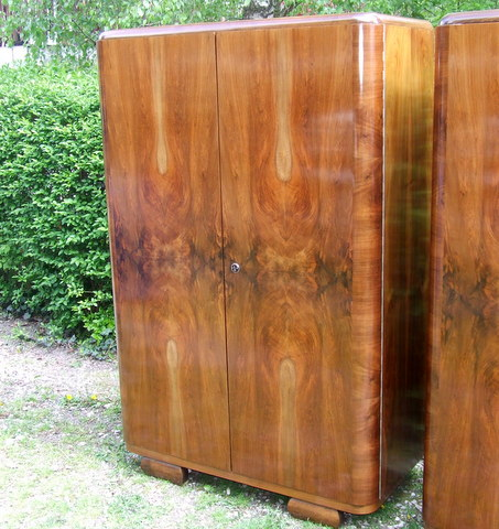 Art Deco Double Wardrobe.