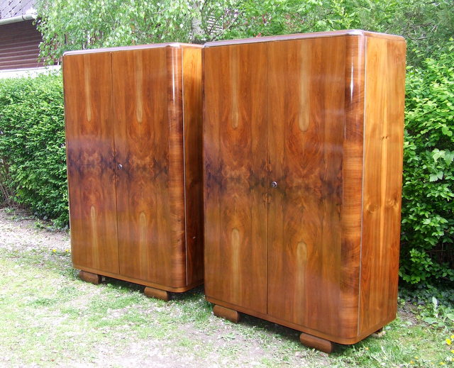 Art Deco Double Wardrobes.